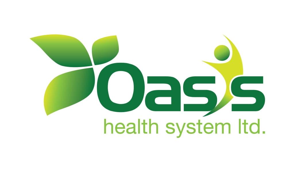 Oasis health systems ltd. logo design