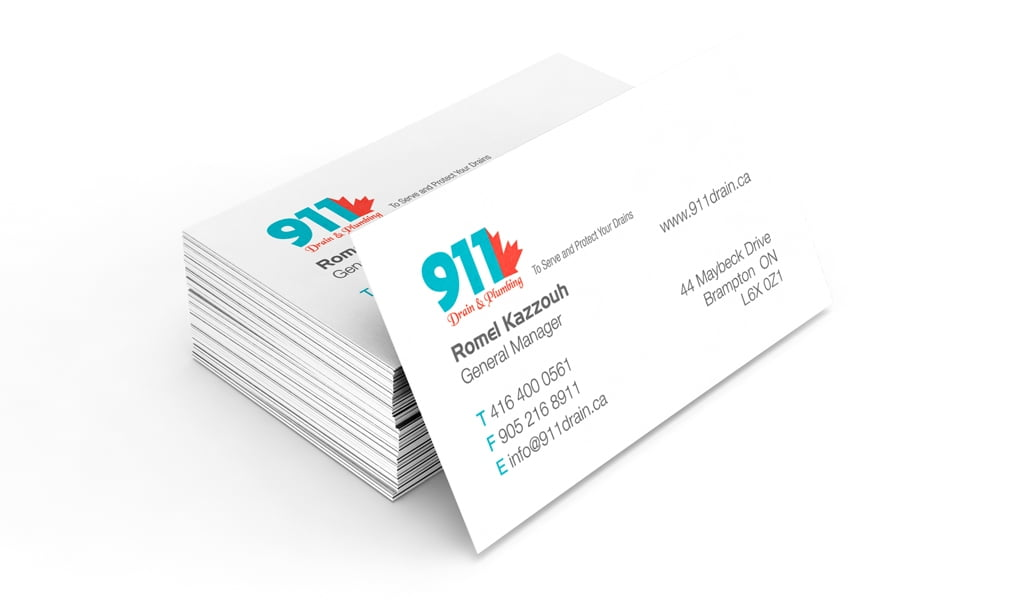 911 plumbing company business card