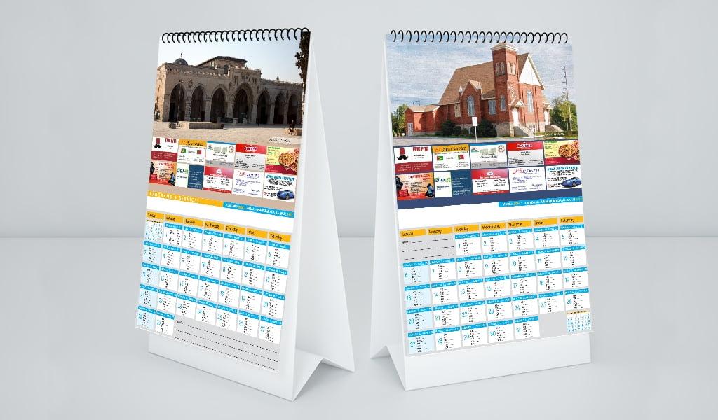 Masjid Al Salam Calendar Design
