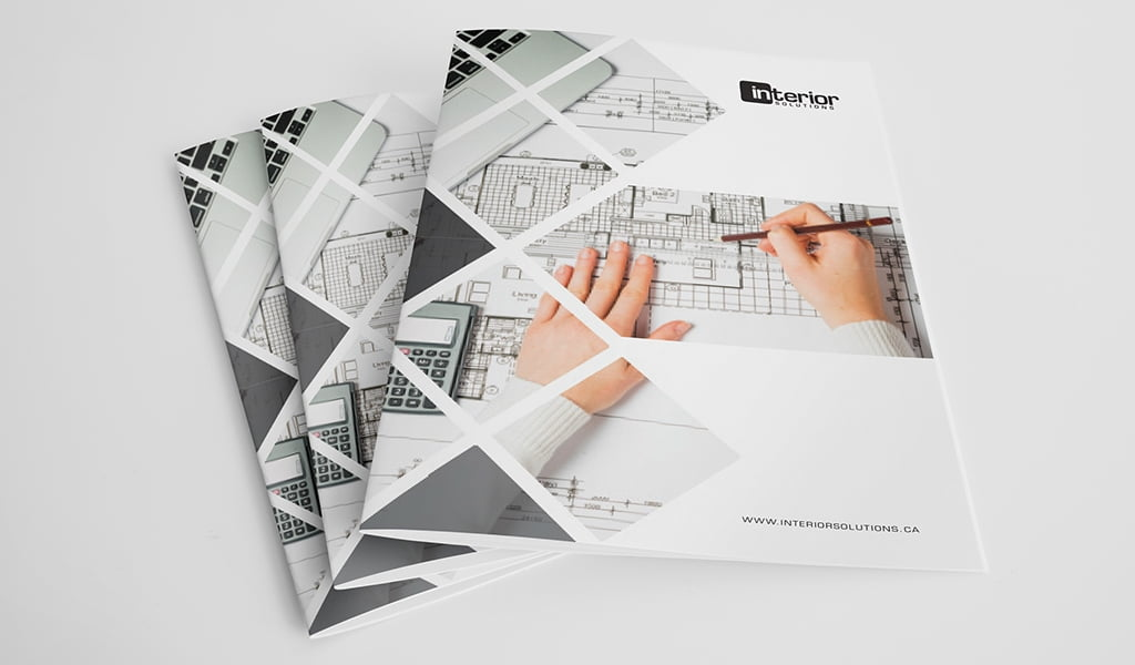 Interior Solutions Presentation Folder Design