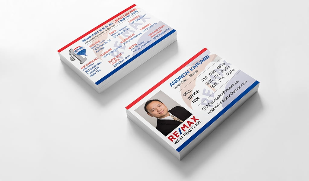 Remax Realty Inc. Business Card