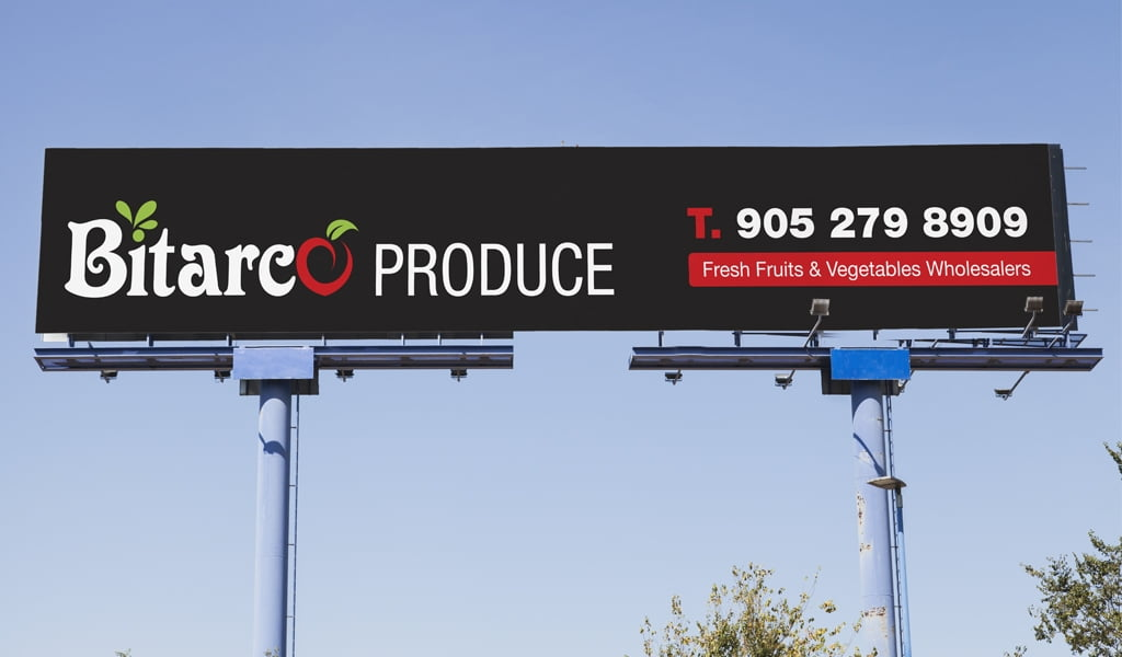 Bitarco Produce Store Sign