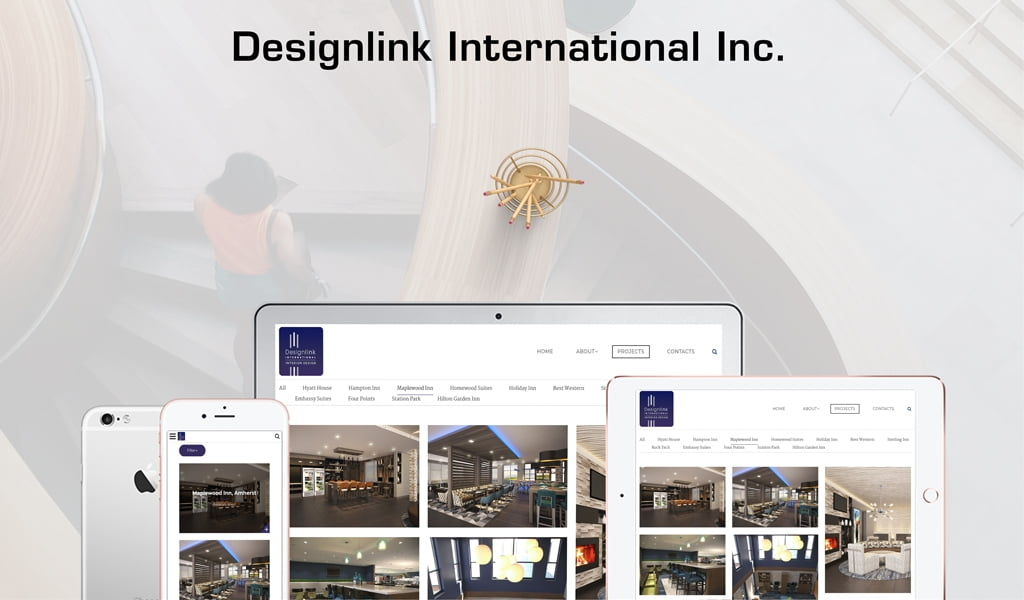 Designlink International Inc. website design