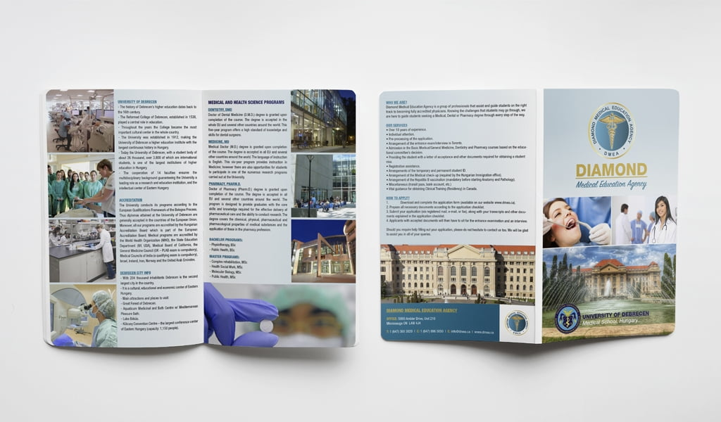 Dimond medical education agency 2 pages brochure