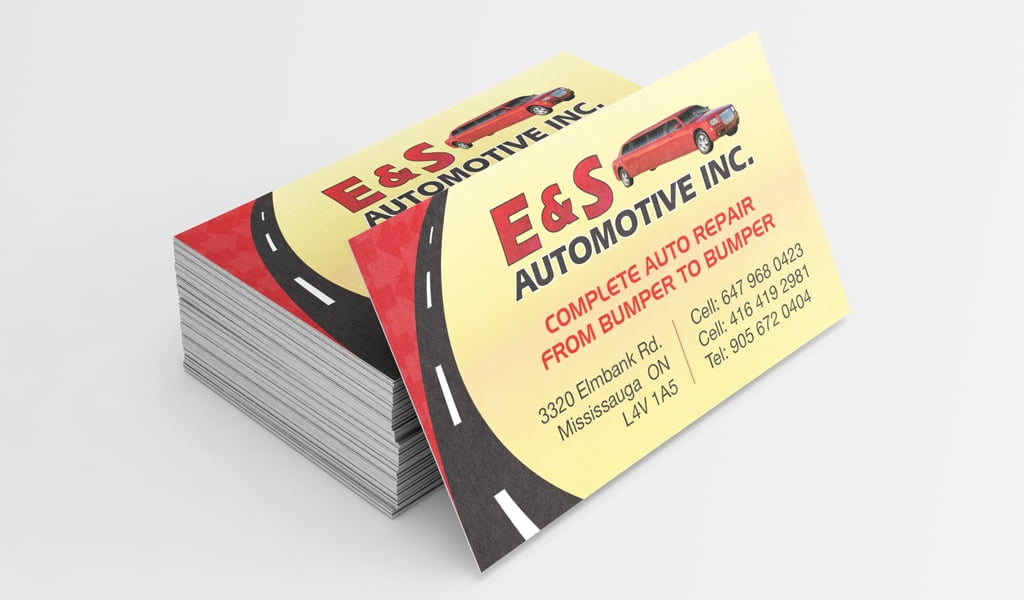 Automotive mechanic business card design