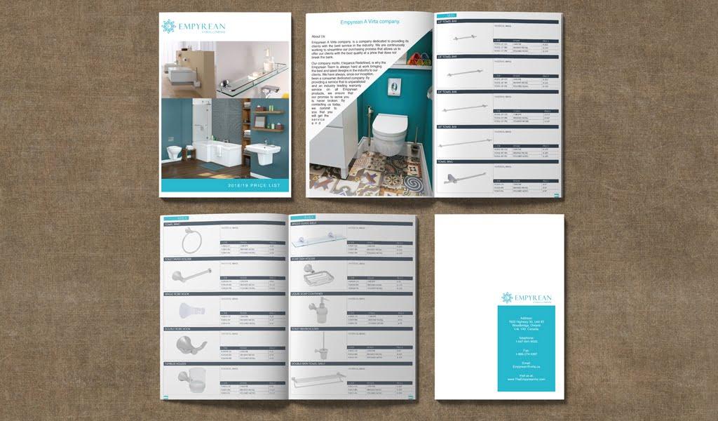 Empyrean Inc Catalogue Price List Design