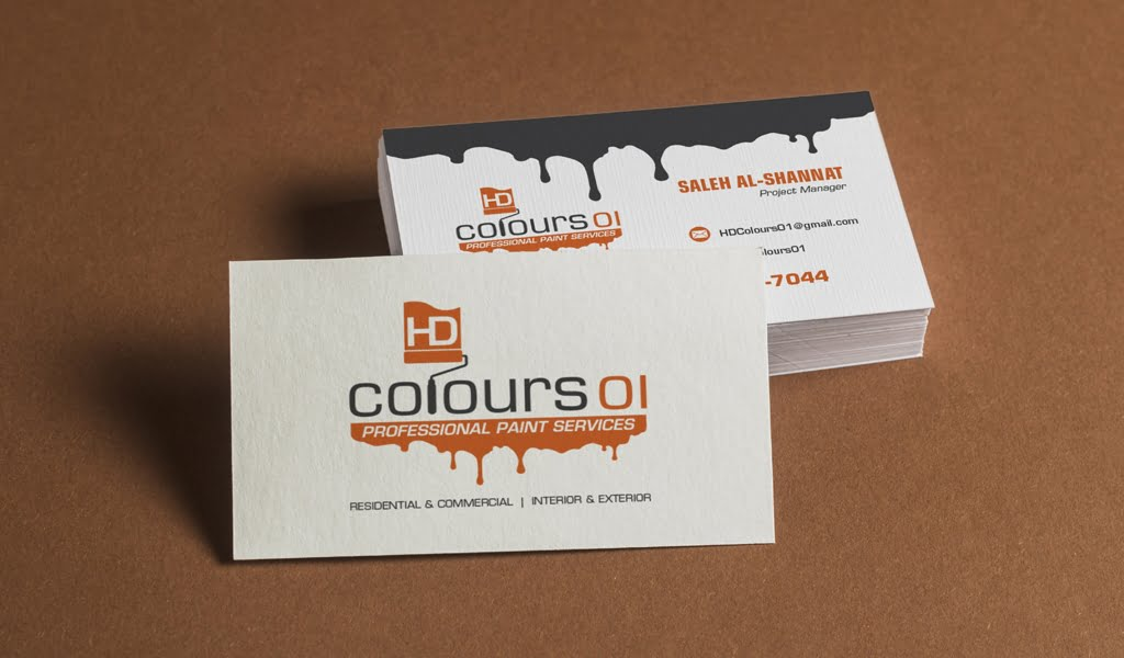 HDColours Painting Services business card Design