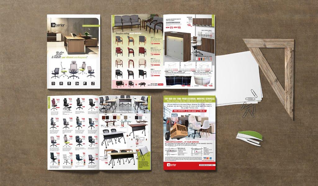 Interior Solutions Office Furniture Sale Flyer Design