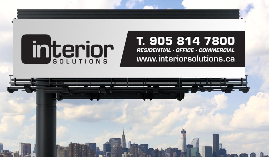 Interior Solutions billboard store sign design