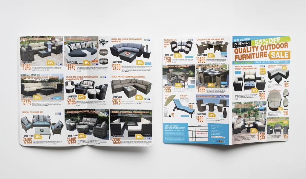 outdoor furniture sale flyer design