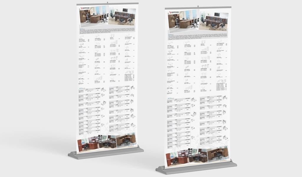 office furniture store roll-up banner