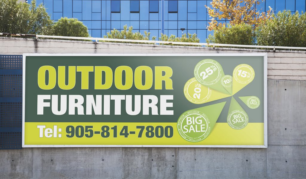 outdoor sign banner