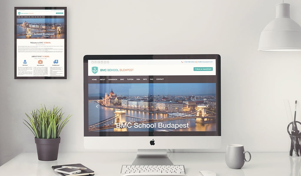 bmc school Budapest website design