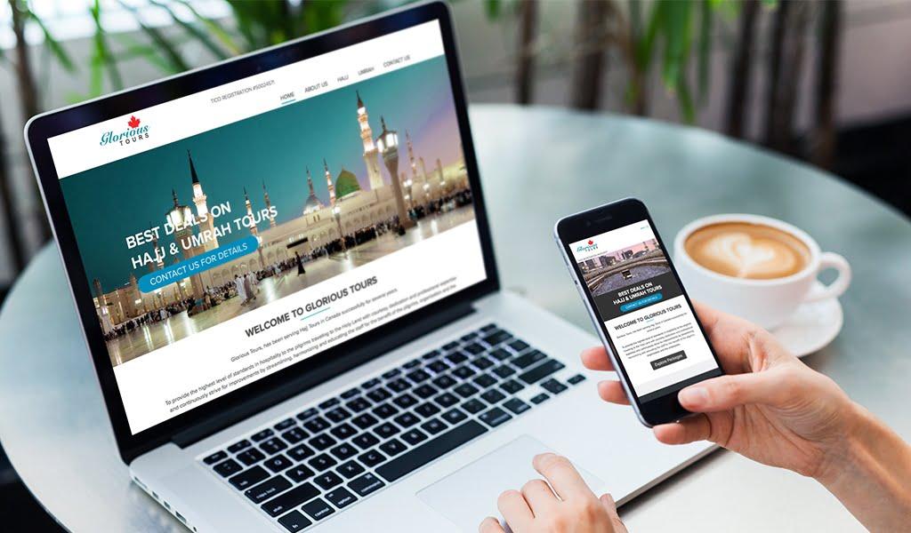 glorious hajj website design