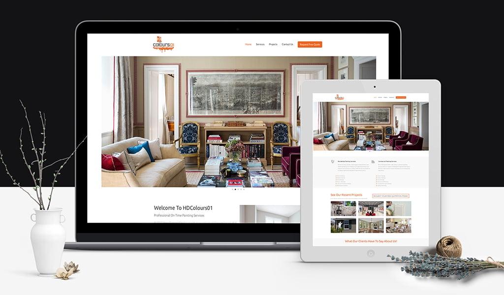 hdcolours website design