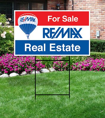 real estate lawn signs